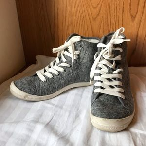 Roxy knit high top sneakers